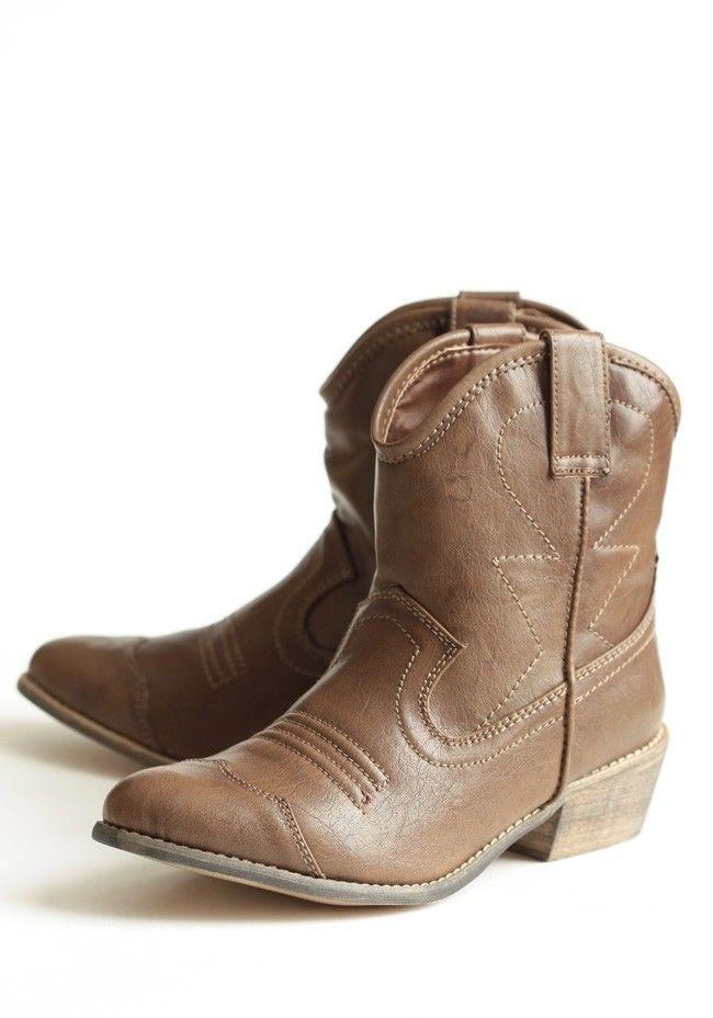 Boots Bridesmaid Cowboy Brown Cute Dress