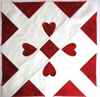 this #quilt block reminds me of a playing card of the hearts suitSewing Quilt, Peace Pathways, Quilts Sewing, Esther Blog, Heart Block, Quilt Red, Heart Quilt, Block Patchwork Heart, Quilt Blocks