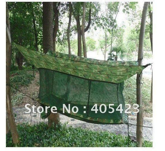 Армейское на открытом воздухе кемпинг гамак палатка + кровать + москит сетей, Сиеста кровать, 1 пк