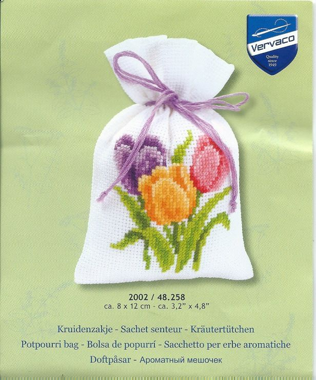 Cross-stitch Tulips Sachet, part 1... Gallery.ru / Фото #13 - 201 - markisa81