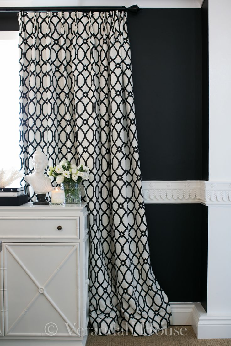 cortinas blanco y negro black and white curtains room challenge