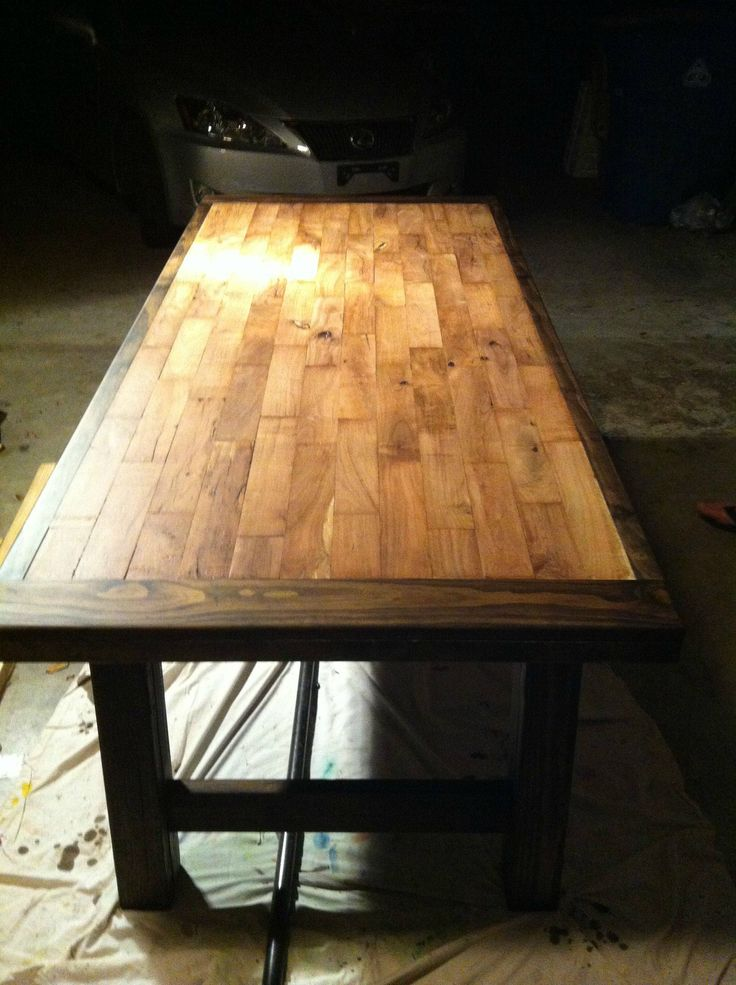 best 25 plank table ideas on pinterest diy table top. Black Bedroom Furniture Sets. Home Design Ideas
