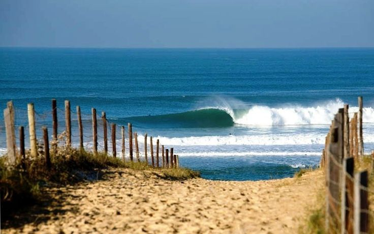 Entrance to the beach at Graviere, Hossegor