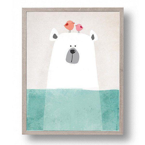 Unframed Polar Bear Canvas Art Print