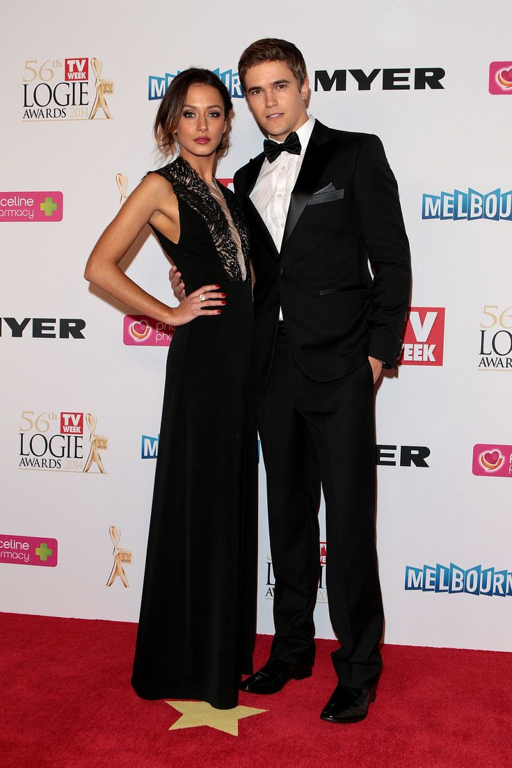 Isabella Giovinazzo (who plays Phoebe in Home and Away) and Nic Westaway (who plays Kyle Braxton)