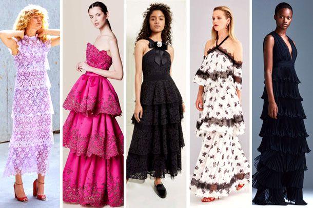 Модные платья с рюшами 2017