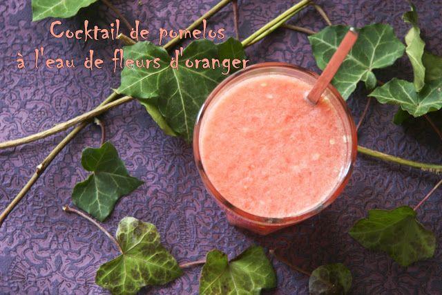 Cockail de pomelos à l'eau de fleurs d'oranger -Dans la cuisine de Gin- #pomelos #grappefruit #cocktailfruits