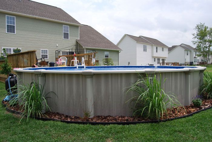 Above Ground Pool Landscaping | Crystal Coast Pools - Above Ground Pools