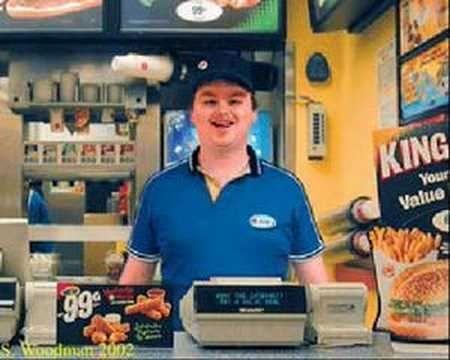 Retarded Burger King  Pakakanta-kanta ka pa sa menu. 'nak ng putaheng bulok ka lamang ! XD