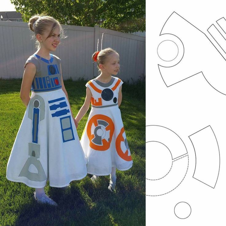 R2D2 and BB8 dresses from Sterling Sparrows