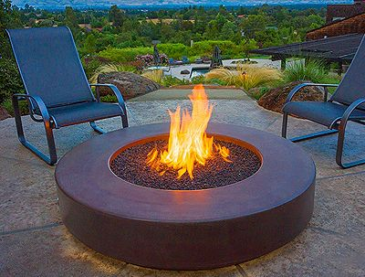 Best Fireplace Images On Pinterest Outdoor Living Outdoor - Concrete outdoor fireplace river rock fire bowl from restoration hardware