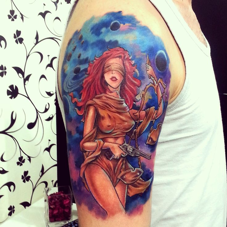 12 best lady justice with her sword scale images on for Tattoos of lady justice