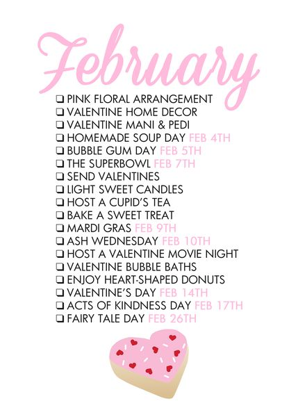 February Seasonal Living List