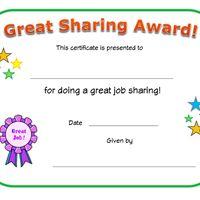 good sharing award