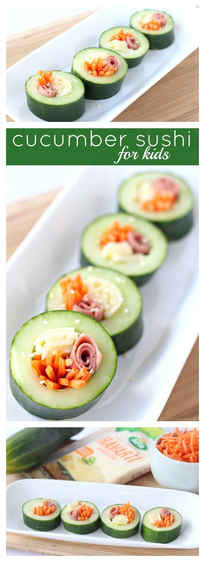 Easy Cucumber Sushi for Kids - Raising Whasians (AD)