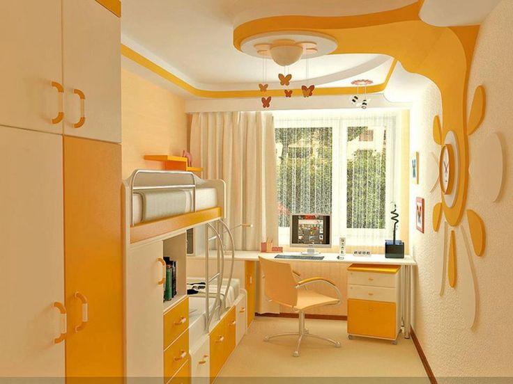 Dětský pokoj * pro holčičky - žluto bílý s hezkým dizajnem ♥