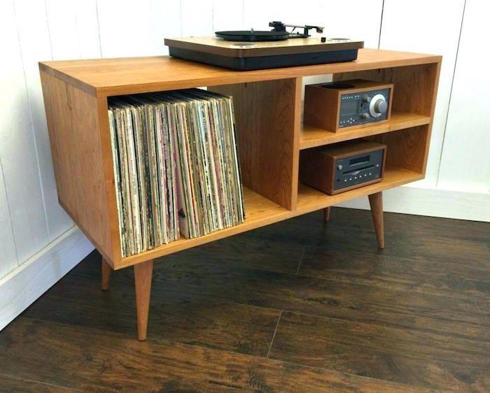 1001 Idees Rangement Vinyle Des Solutions Et Un Tuto Etagere Vinyle Meuble Vinyle Meuble Pour Platine Vinyle