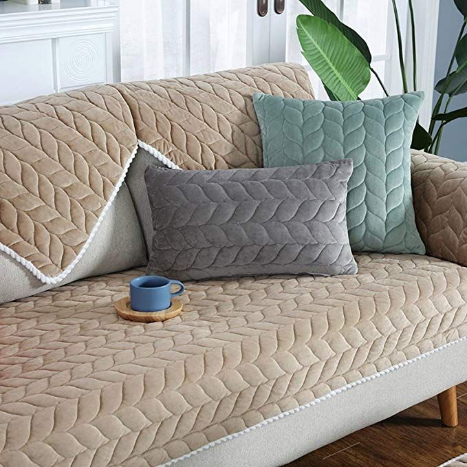 Lovehouse Plush Quilted Sofa Slipcover