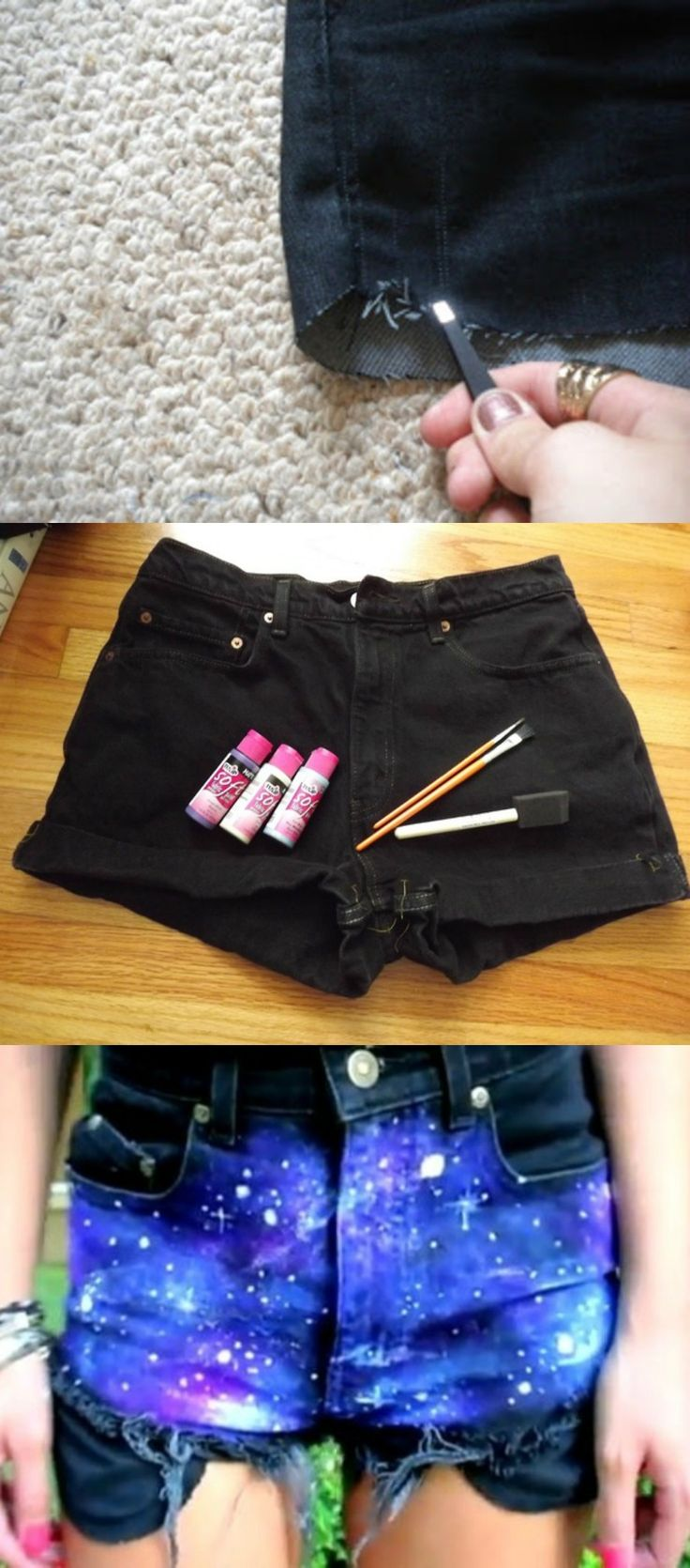 Galaxy Short Tutorial!! #DIY