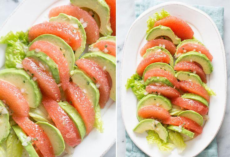 Потрясающе прекрасный и простой рецепт салата из грейпфрута и авокадо!