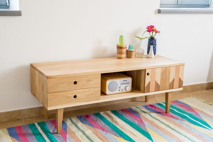 Komoda TV Puzzle - Wood & Paper