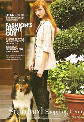 My dog Lucky in a fashion ad!