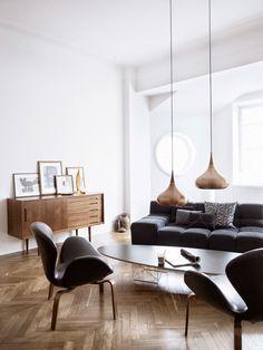 The lovely home of Swedish designer Stefan Söderberg, who with partner Anne Ringstrand runs the Swedish fashion label Hope. (photo by birgitta wolfgang drejer)