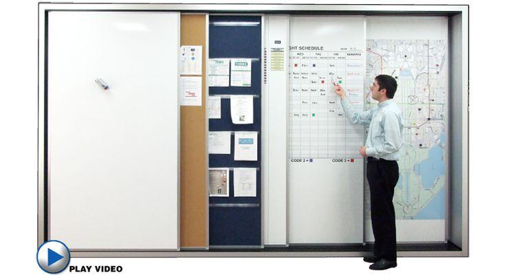 Track wall slide sliding panel display system sliding for Sliding panel walls