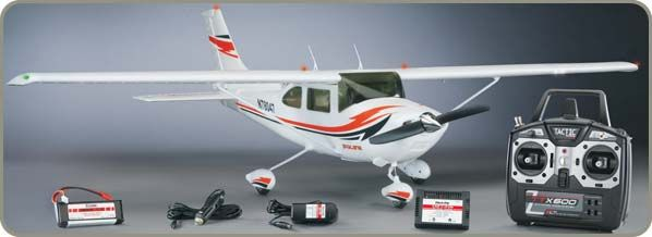 Cessna Skylane Pro RTF Plane  In the air, the resemblance to the original is unmistakable. Up close, it's even more impressive!The Cessna 182 Skylane is an easy-to-fly sport plane you can LEARN TO FLY with