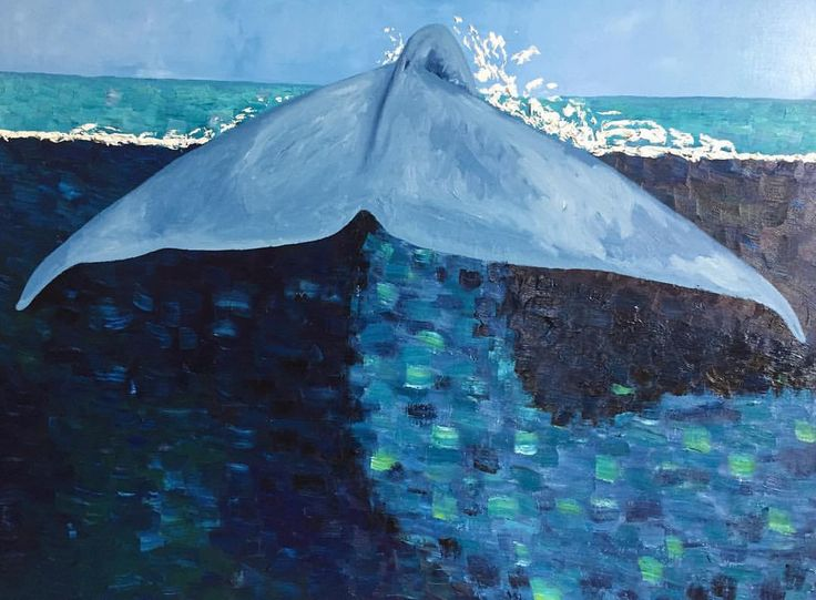 Stephanie Burns Blue Whale 2016 Oil on canvas 36 x 48 in