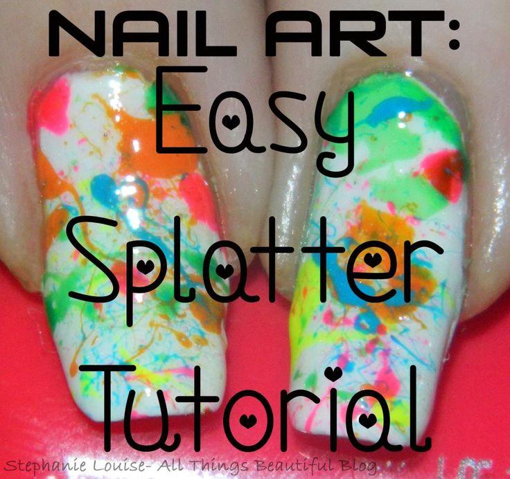 Nail Art: Summer Splatter Nails + My First Video Tutorial! http://stephanielouiseatb.blogspot.com/2013/06/nail-art-summer-splatter-nails-my-first.html  #nails #nailart #manicure #summer #neon #makeup #nailpolish