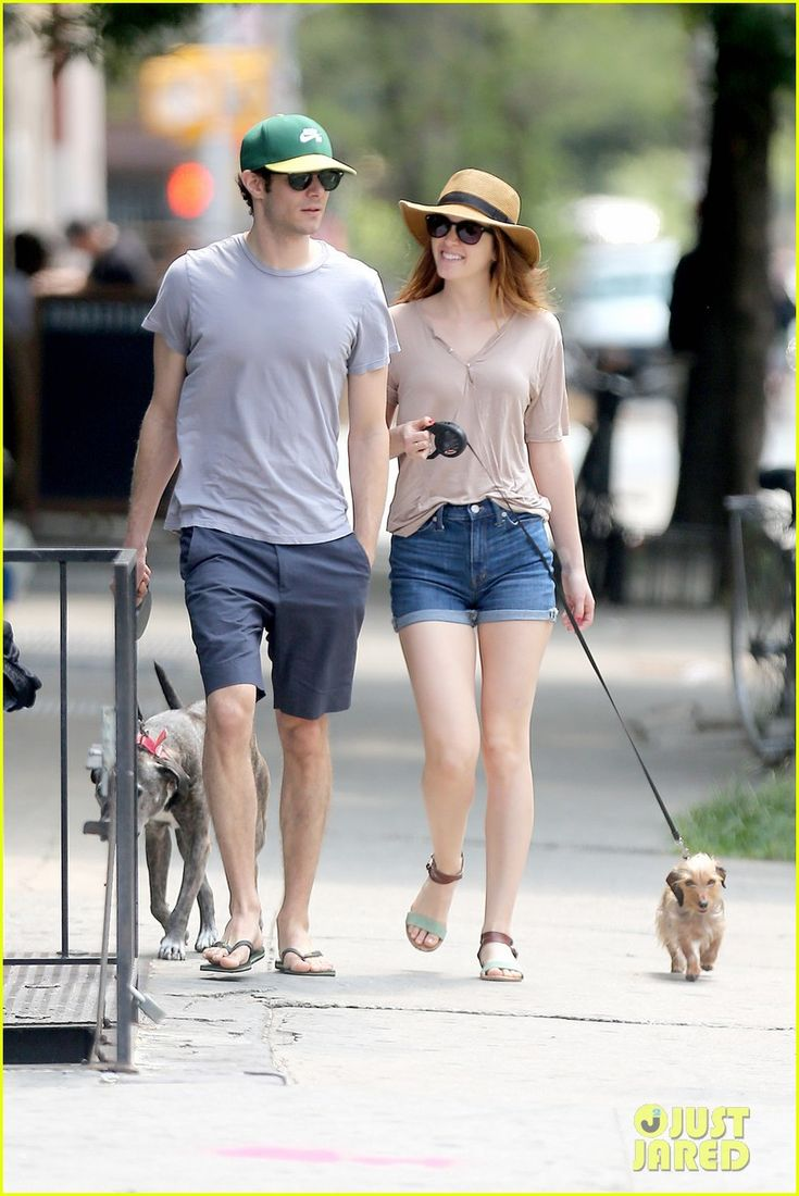 leighton meester adam brody cutest dog walking couple 02 Leighton Meester shows off her beautiful smile while taking a morning stroll with her husband Adam Brody and their two dogs on Monday (July 21) in New York City.…