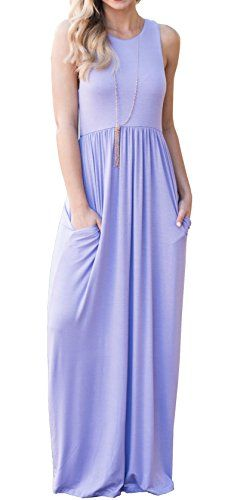 d39f63df96d4 Because maxi dresses are the best dresses and I don't care who says  otherwise. GRECERELLE Women's Sleeveless Racerback Loose Plain ...