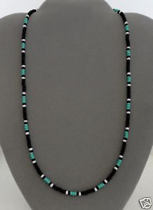 Black,Turquoise Mens,Womens Necklace Native American