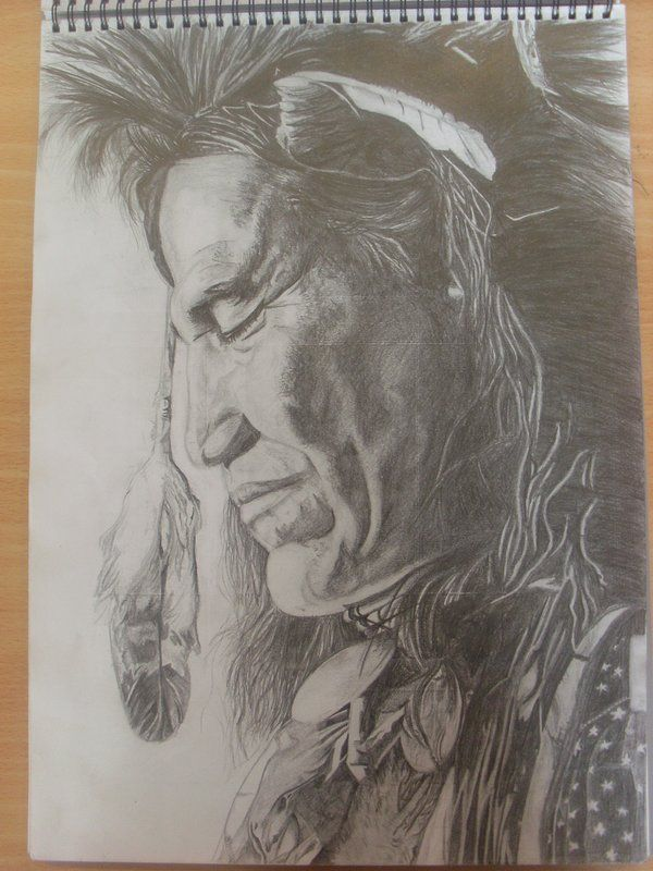 Pencil & charcoal - Buscar con Google Native American ...