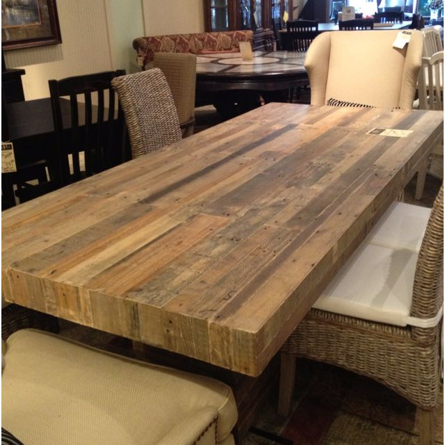 Best 25 reclaimed wood table top ideas on pinterest for Reclaimed wood table designs