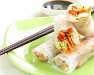 Rouleaux de printemps pour le nouvel an chinois : http://www.fourchette-et-bikini.fr/recettes/recettes-minceur/rouleaux-de-printemps-pour-le-nouvel-chinois.html