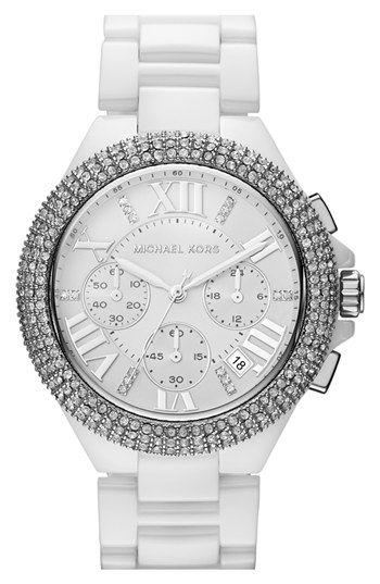 Michael Kors chronograph ceramic watch http://rstyle.me/n/jjbwzr9te