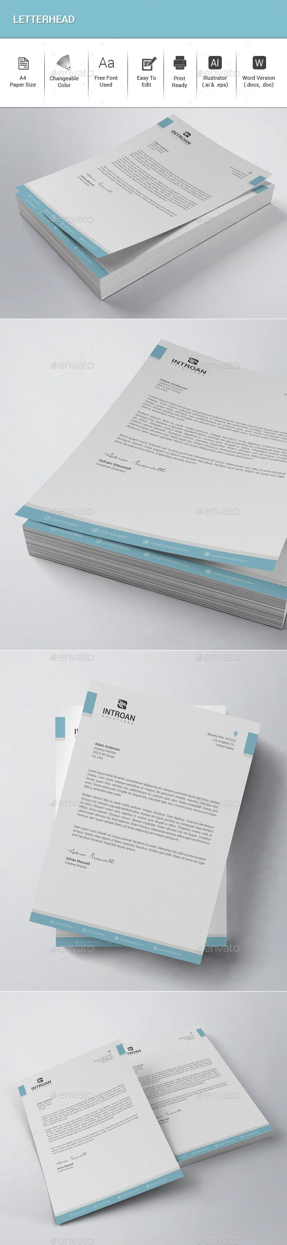 Best Letterhead Images On   Design Patterns Design