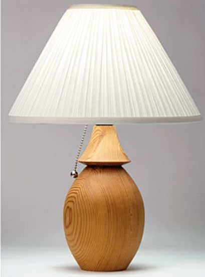 solid wood turned lamp