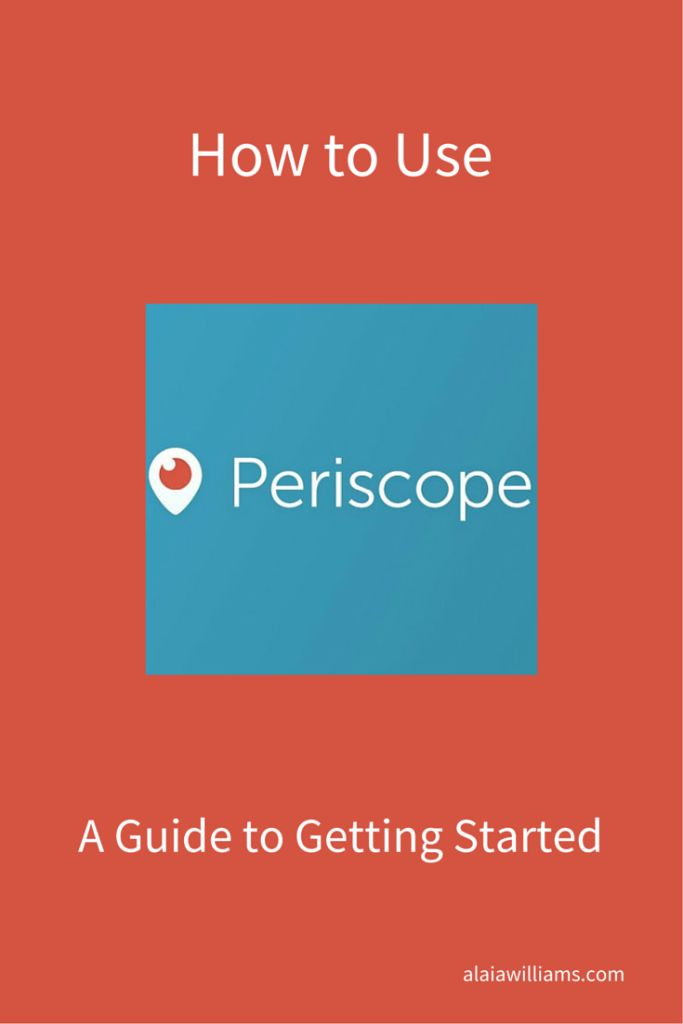 How to Use Periscope - A Guide to Getting Started. If you're thinking of using Periscope for business, check out these quick tips.