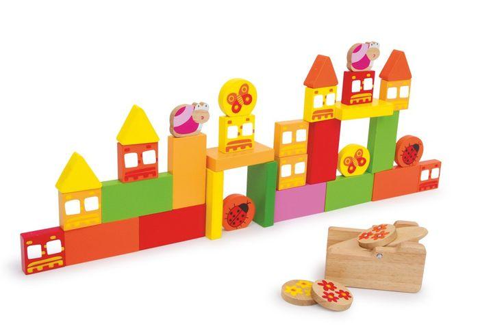 Dieses Flip-Spiel lässt die Stadt erzittern. Mit einem Gummi-Zug-Katapult kann die Geschicklichkeit der ganzen Familie getestet werden. Mit den bunten Spielsteinen in verschiedenen Formen eine Mauer nach eigenem Belieben errichten und später mit dem Katapult gezielt umwerfen. Das Spiel fördert die Geschicklichkeit und bringt zusätzlich eine Menge Spaß!  Klotz: ca. 7 x 3,5 x 1 cm; Abschussgerät: ca. 8 x 6 x 5 cm