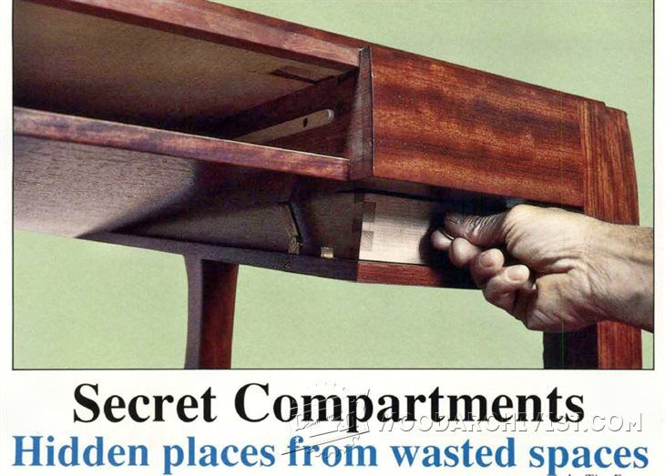 secret compartment furniture furniture plans and projects