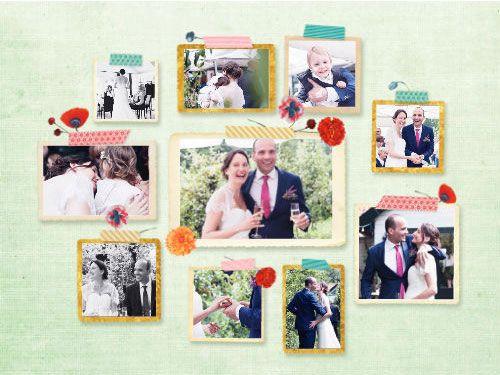 Collage met trouwfoto's huwelijk