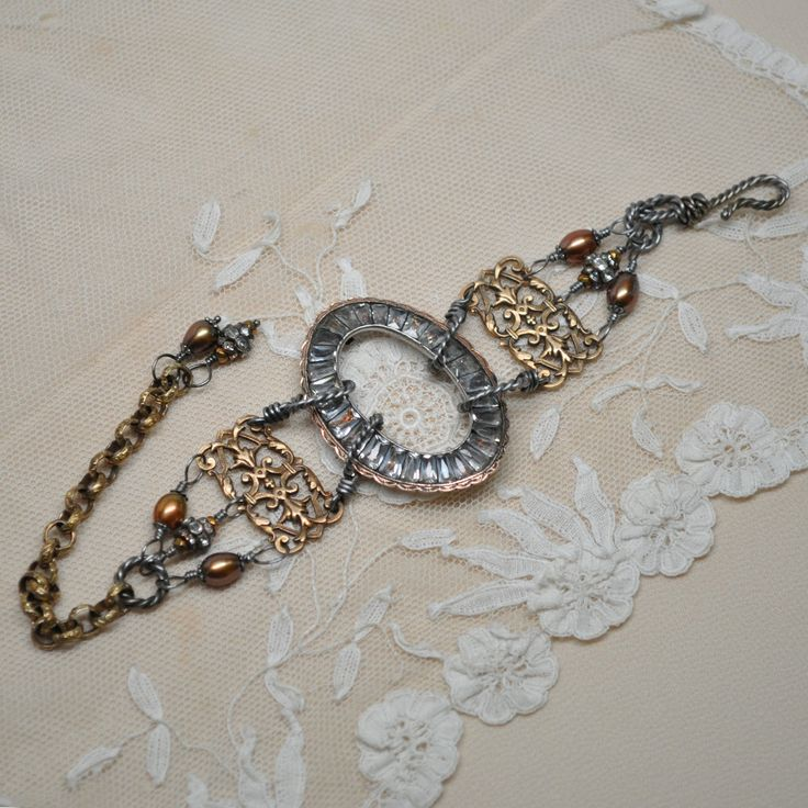 Vintage assemblage bracelet