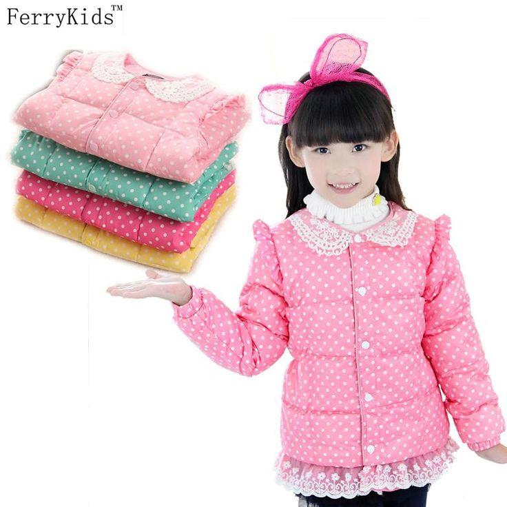 $9.99 (Buy here: https://alitems.com/g/1e8d114494ebda23ff8b16525dc3e8/?i=5&ulp=https%3A%2F%2Fwww.aliexpress.com%2Fitem%2F2015-New-Kids-Winter-Coat-Girls-Winter-Jacket-And-Coats-Down-Lace-Polka-Dot-Print-Children%2F32474191456.html ) 2015 New Kids Winter Coat Girls Winter Jacket And Coats Down Lace Polka Dot Print Children Clothing Baby Girls Clothes for just $9.99