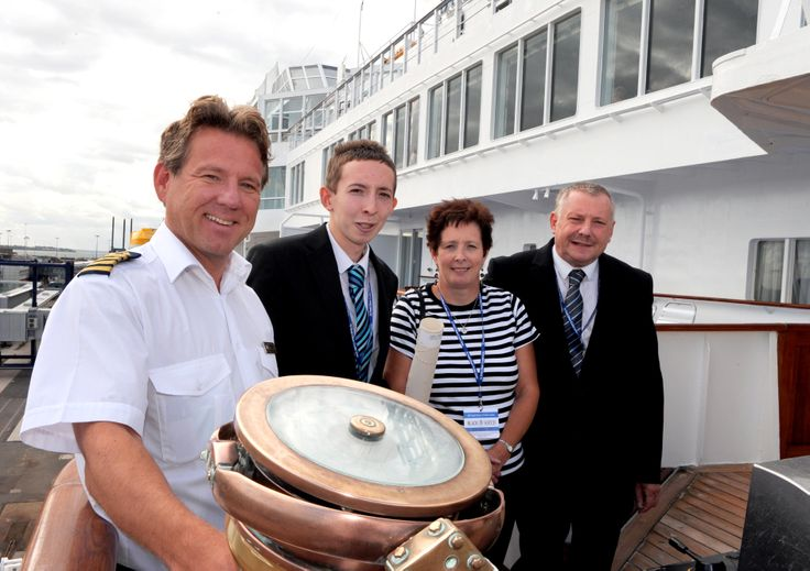 #HarryCotterill on the bridge of Fred. Olsen #Cruise Lines #BlackWatch in #Harwich August 2010