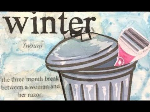 ICAD 2017 Day 60 'winter' #dyicad2017 #icad #indexcardaday #ozegran #winter