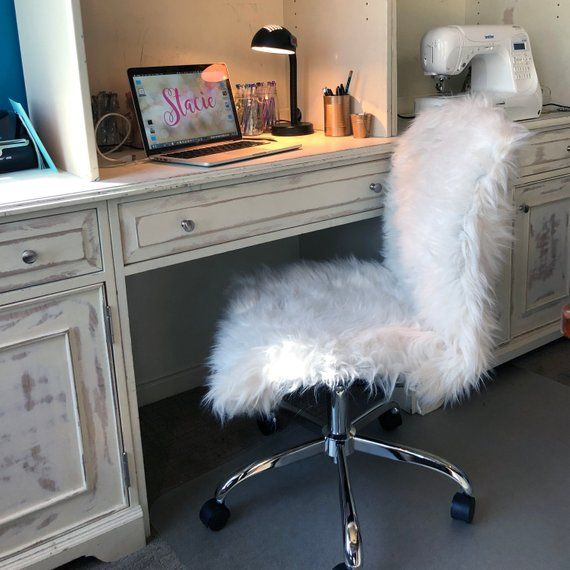 Faux Fur Chair Cover Slipcover Faux Fur Cover Fur Etsy In 2020 Slipcovers For Chairs Office Chair Cover Fur Chair