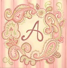 And of course, a monogrammed paisley print just for me. :)